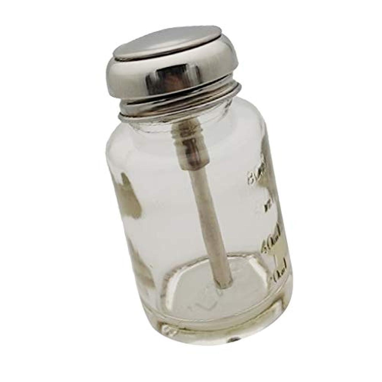 DYNWAVE プレスボトル ガラスボトル 押し下げ ポンプボトル ネイルポリッシュリムーバー メイク落とし ディスペンサー