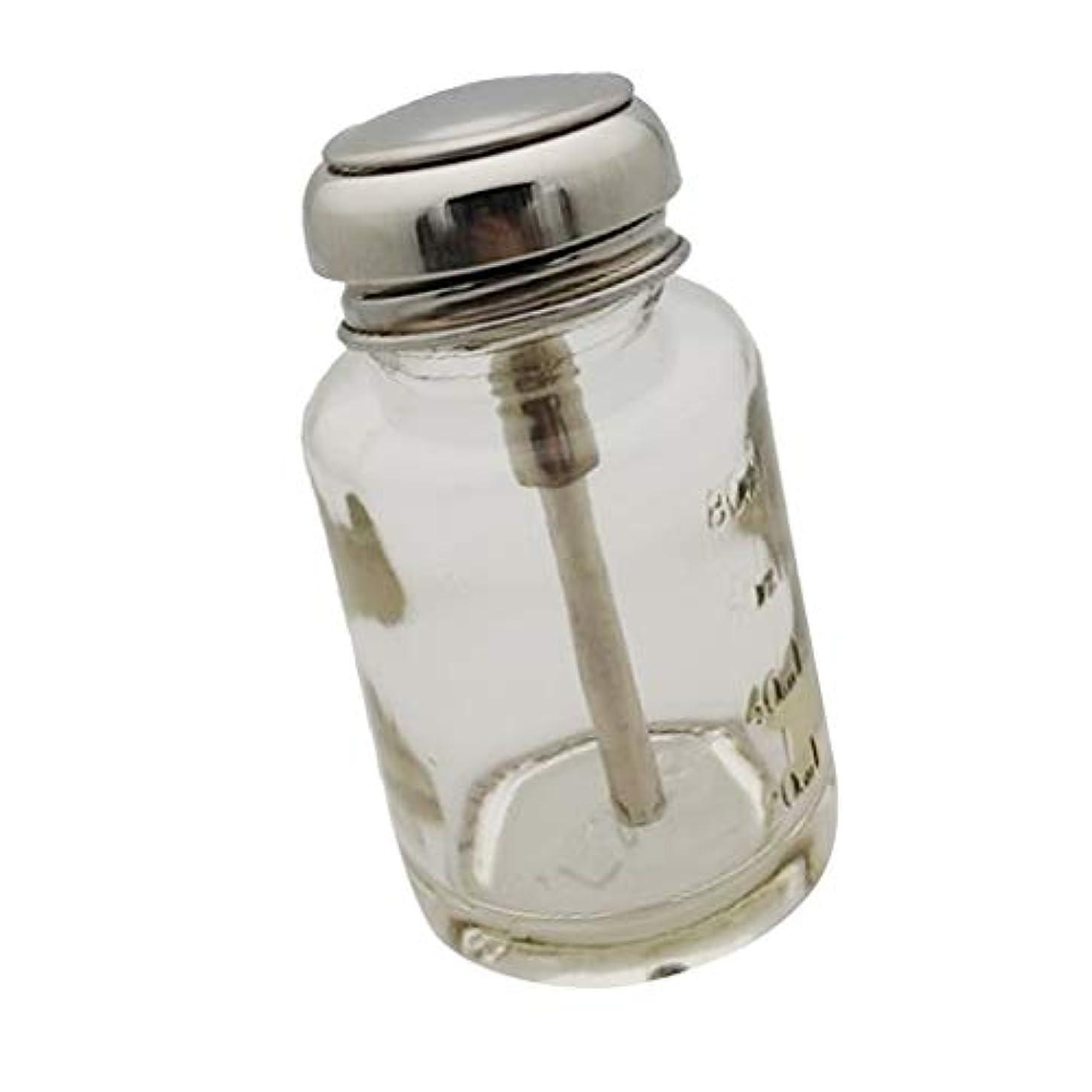 生活設計魔法DYNWAVE プレスボトル ガラスボトル 押し下げ ポンプボトル ネイルポリッシュリムーバー メイク落とし ディスペンサー