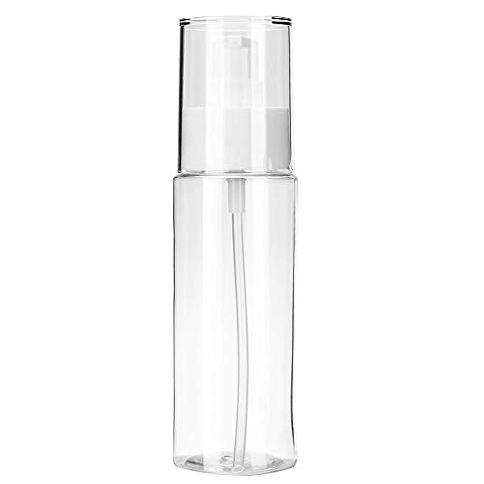 そこからフライト隠す小分けボトル 透明 空ローションボトルポータブルシャンプートナー化粧品収納ボトル(100ml)
