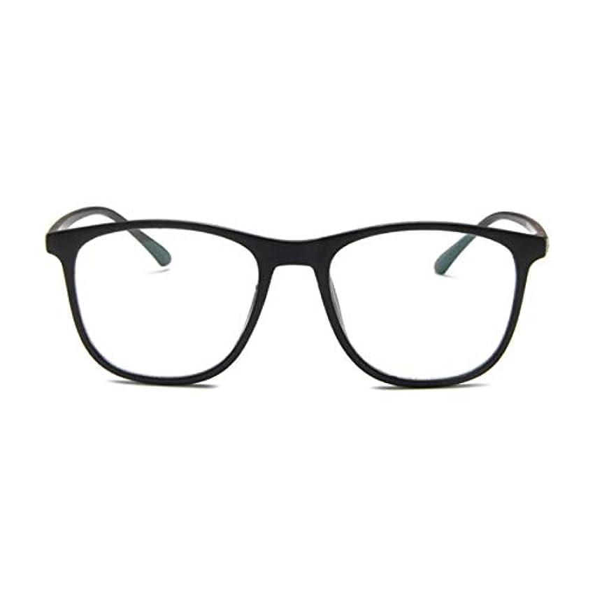 司令官植木トーン韓国の学生のプレーンメガネの男性と女性のファッションメガネフレーム近視メガネフレームファッショナブルなシンプルなメガネ-マットブラック