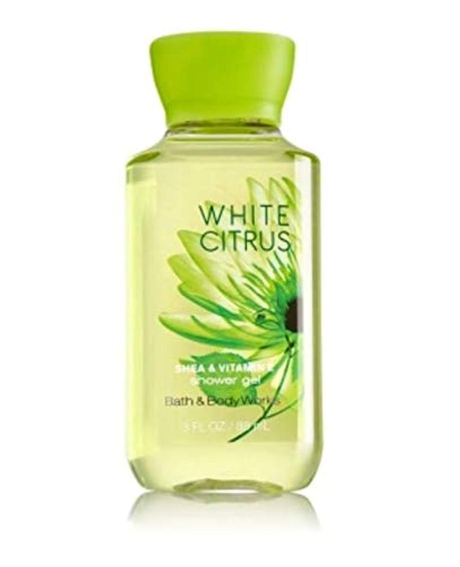 ビン抑制する桃バス&ボディワークス ホワイトシトラス シャワージェル White Citrus トラベルサイズ [並行輸入品]