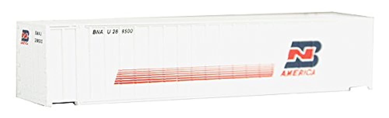 Nスケール48 ' Ribbedコンテナ – Assembled – - BN America (ホワイト、ブルー、レッド)