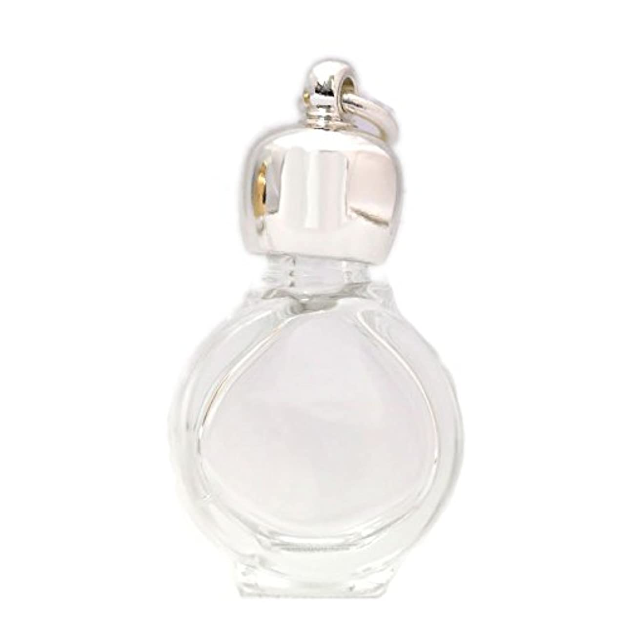 ミニ香水瓶 アロマペンダントトップ タイコスキ(透明)1ml?シルバー?穴あきキャップ、パッキン付属
