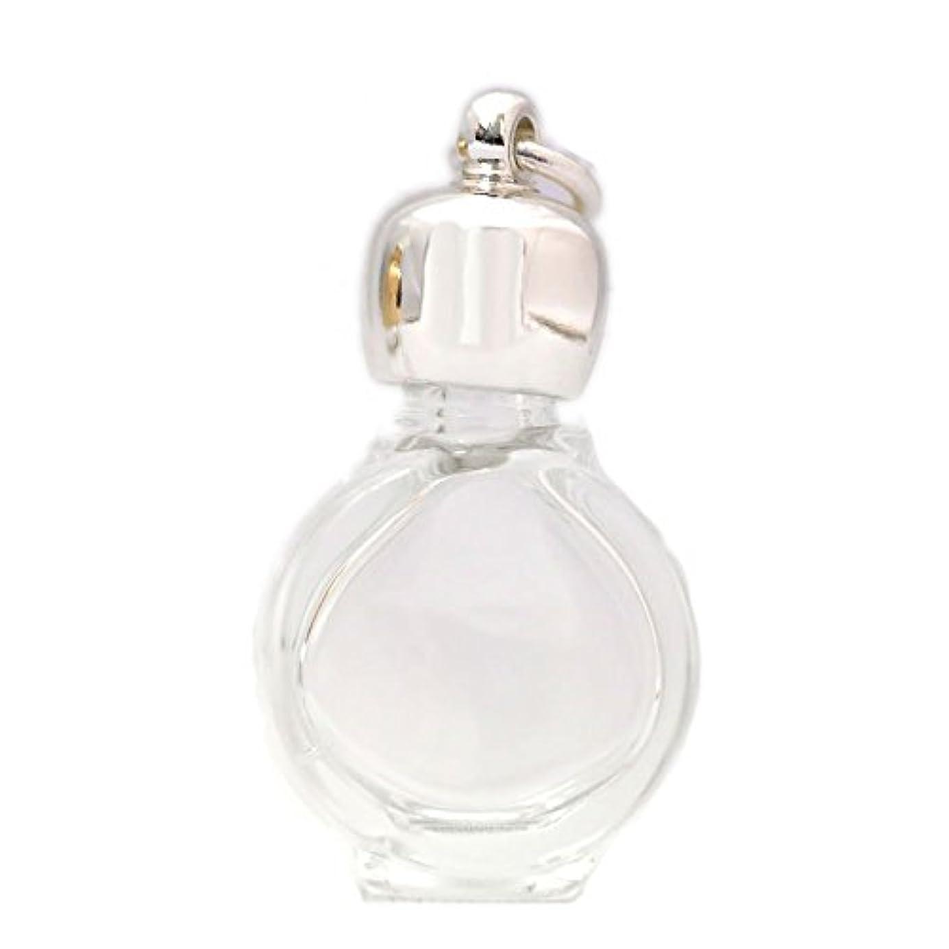 精算いつ輪郭ミニ香水瓶 アロマペンダントトップ タイコスキ(透明)1ml?シルバー?穴あきキャップ、パッキン付属