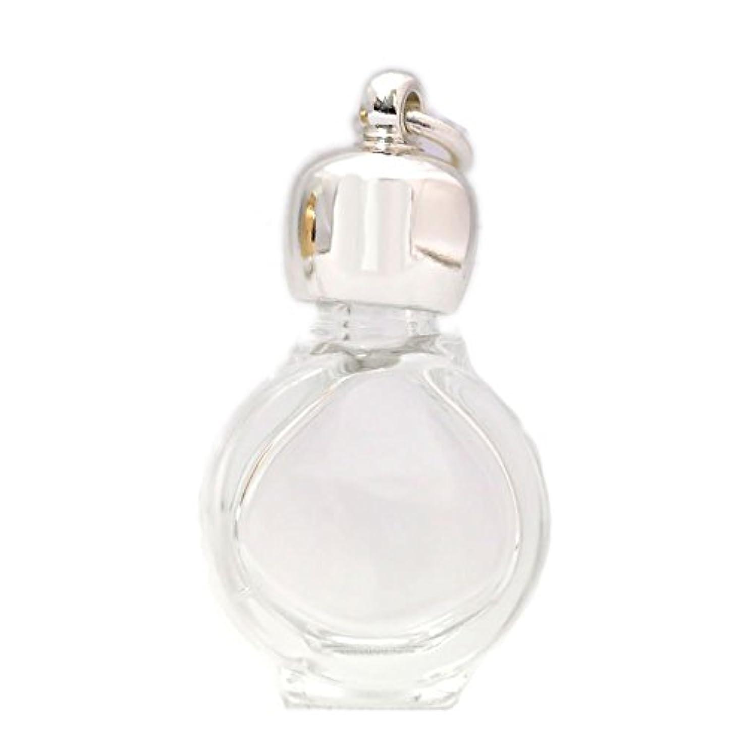 悪用終わりカロリーミニ香水瓶 アロマペンダントトップ タイコスキ(透明)1ml?シルバー?穴あきキャップ、パッキン付属