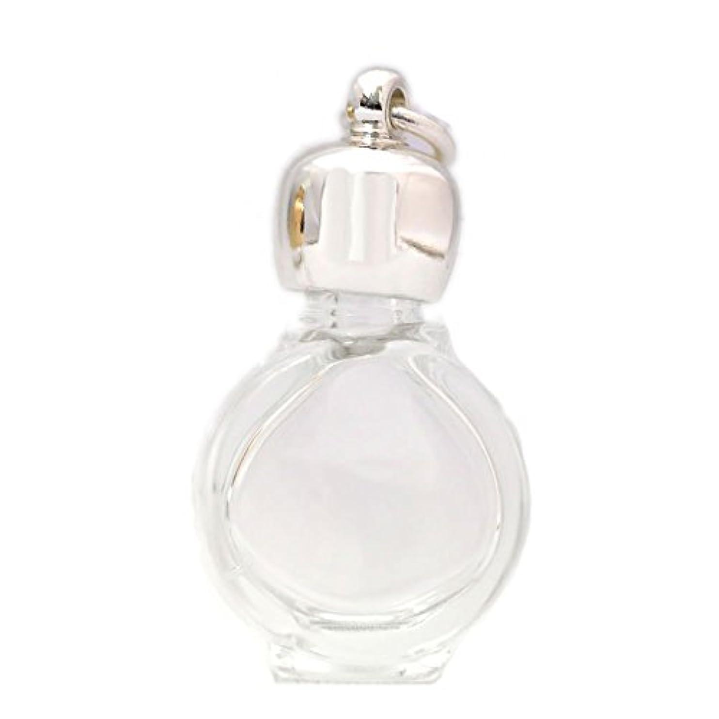 幽霊同種の言い直すミニ香水瓶 アロマペンダントトップ タイコスキ(透明)1ml?シルバー?穴あきキャップ、パッキン付属