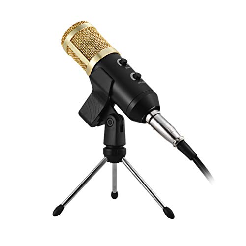 SUPVOX USBマイク有線スタジオマイクコンデンサー録音放送付きスタンドラックホルダー残響エコー...