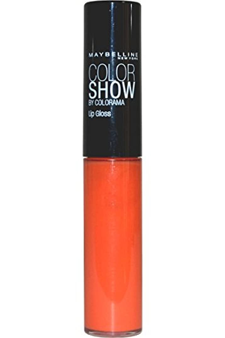 せせらぎ繊毛不条理Maybelline Color Show Lip Gloss Lippenstift Tropic Tangerine 385