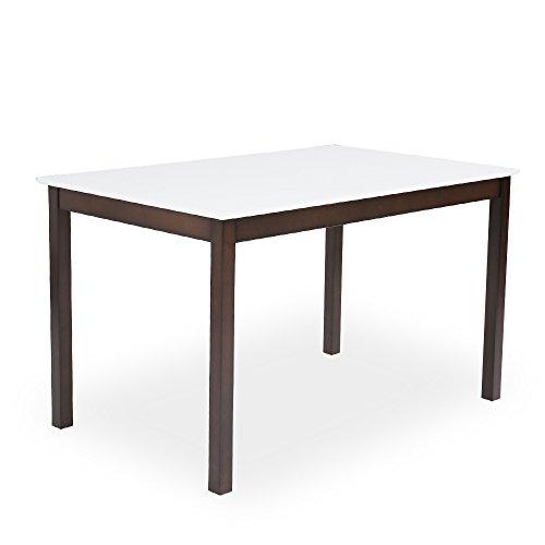 LOWYA (ロウヤ) ダイニング ダイニングテーブル テーブル単品 4人掛け 幅120cm ブラウン ホワイト おしゃれ 新生活
