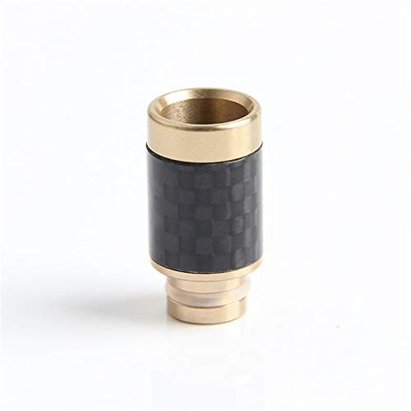 疲労主張時計回りカーボンメタル ドリップ チップ Drip Tip 510規格 MANGOFARMSオリジナル ステンレスカーボン 質感?デザイン性?使用感もオススメ 各種アトマイザー、スターターキットに最適 (ゴールド (金色))