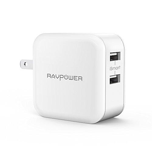 usb充電器 RAVPower 24W 2ポート 急速充電器 iPhone iPad スマホ タブレット モバイルバッテリー 等対応 acアダプタ (ホワイト)