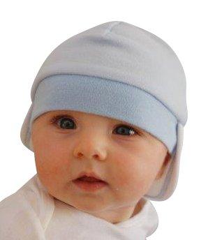 cb46e9b4e Baby Nap Cap Sleep Eye Mask & Infant Sun Visor Cap Gift Bag, White ...