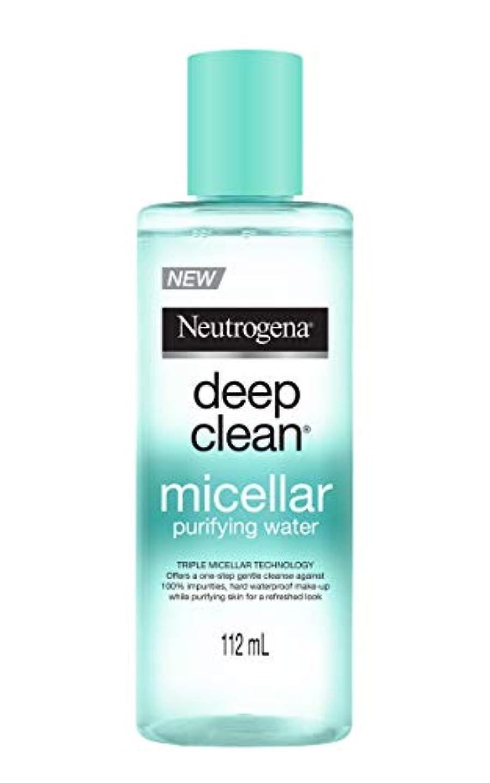 対脈拍運命的なNeutrogena Deep Clean Micellar Purifying Water, Transparent, 112 ml