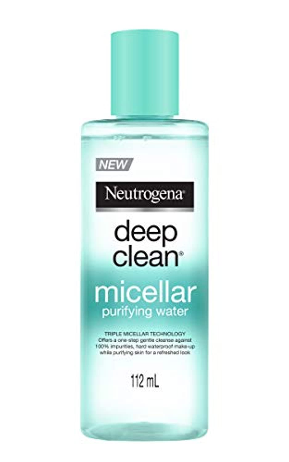 効能あるプロポーショナル医学Neutrogena Deep Clean Micellar Purifying Water, Transparent, 112 ml