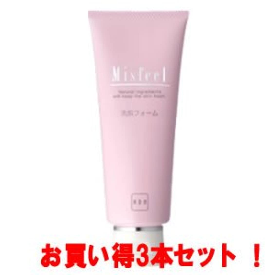 激しい切り離す混合(アサバ化粧品)ミズフィール 洗顔フォーム100g(お買い得3本セット)
