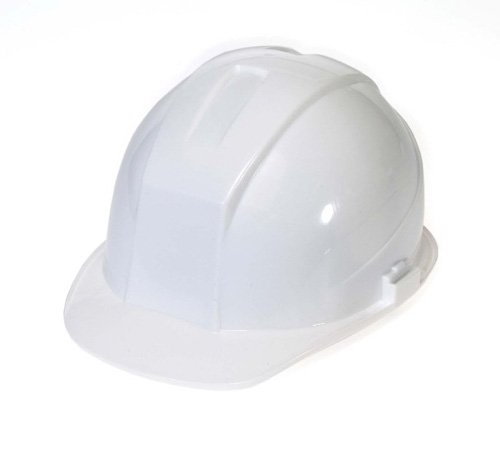 Liberty DuraShell HDPE Cap Style Hard Hat with 4 Point Ratchet Suspension, White (Case of 6) by Liberty Glove & Safety