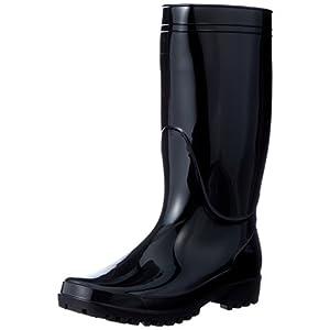 [富士手袋工業] 軽半長靴 作業靴 レインブーツ PVC 3E 9661 ブラック 25 cm 3E