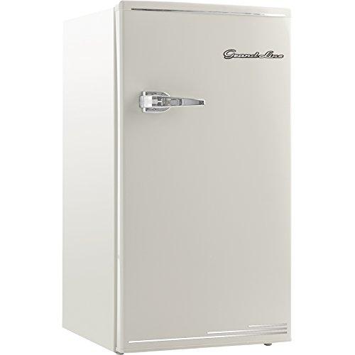Grand-Line 冷蔵庫 85L 1ドア レトロ 冷凍冷蔵庫 ホワイト ARD-85LW