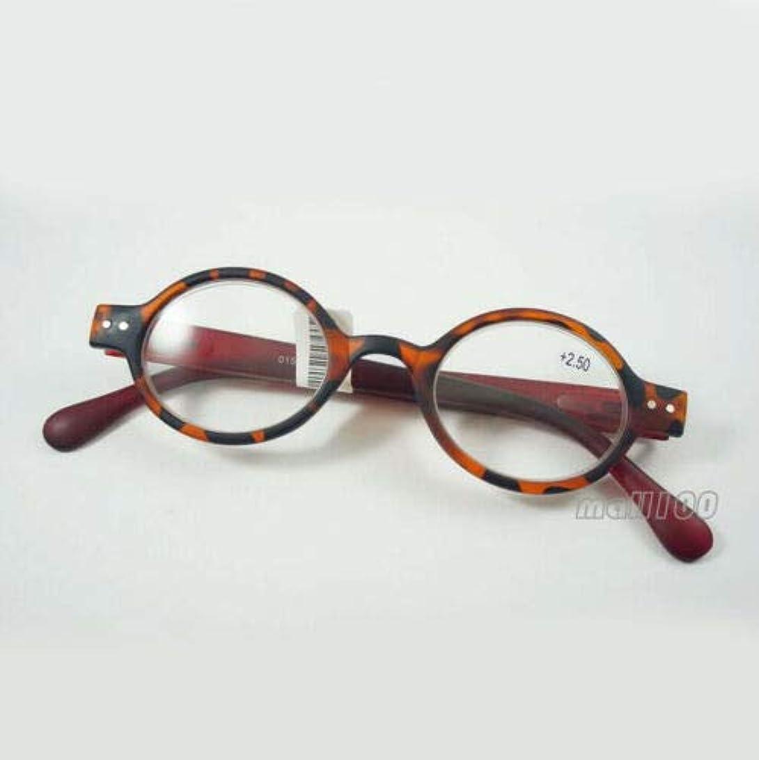 FidgetGear ラウンドプラスチックレトロ老眼鏡フルフレームユニセックスブラックブラウンヒョウ赤 褐色