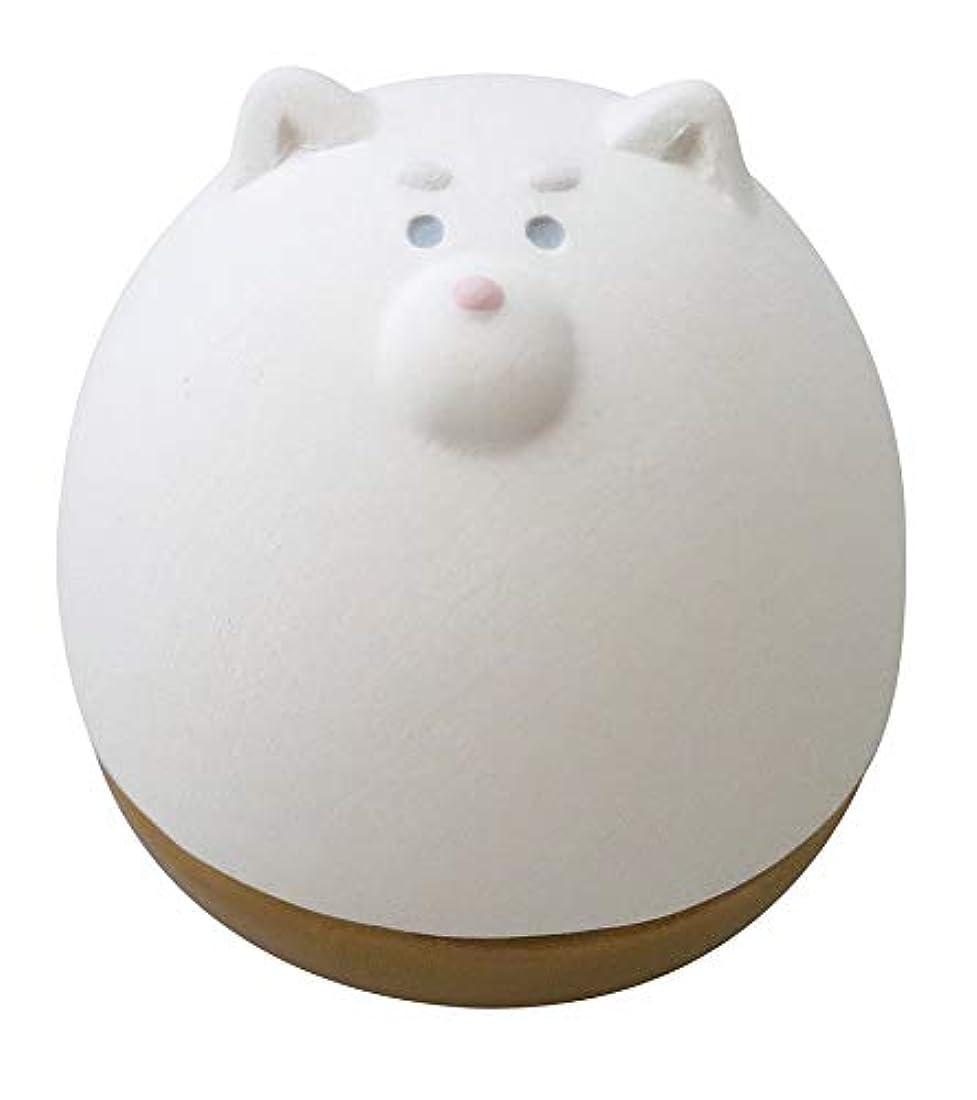 存在製品ソロデコレ(DECOLE) アロマおきあがりこぼし ホワイト 5.0×6.0×h5.6 しば AG-92302