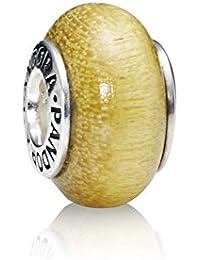 PANDORA Charms Sterling Silver Original Honey Wood Bead Charm