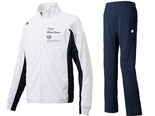 (デサント) DESCENTE Move Sport ドライトランスファー トレーニングジャケット・パンツ上下セット DMMLJF10/DMMLJG10 ジャージ上下セット (WHTxENV, L)