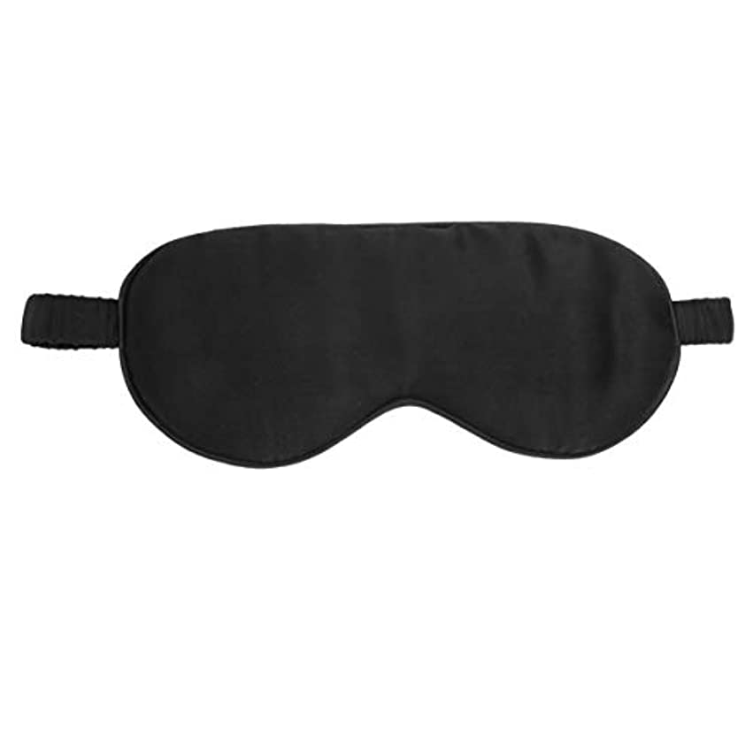 広々ベーカリー脇にシルクスリープマスクナチュラルソフト目隠しスムースアイカバー弾性ストラップアイパッチブロック目隠し寝具旅行用(黒)