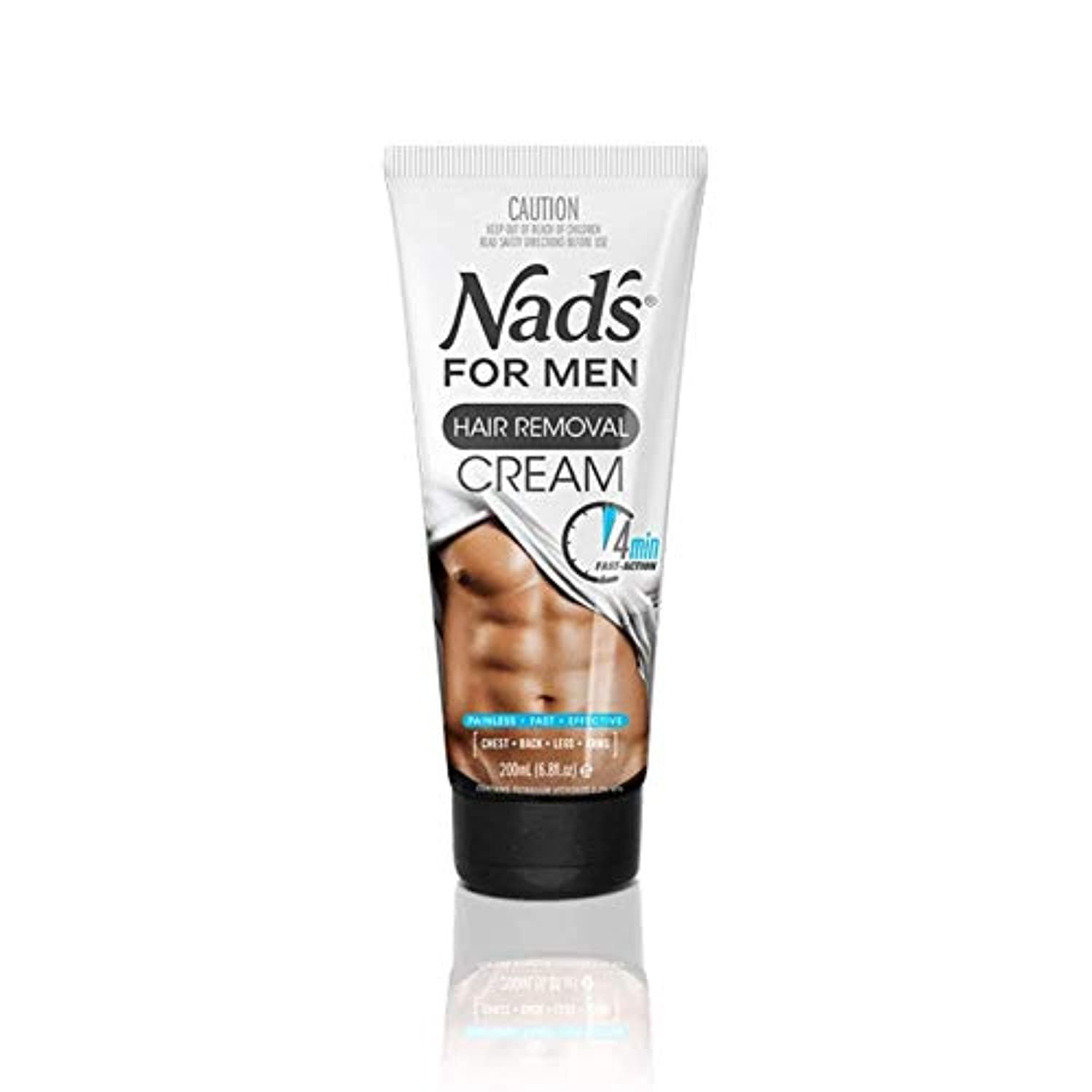公平な脇に署名Nad's For Men Hair Removal Cream For The Body - 6.8oz (Pack of 3) by Nad