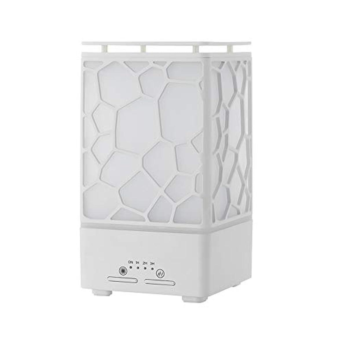オズワルドボアピルデスク ミニ ウォーターキューブ 加湿器,涼しい霧 精油 ディフューザー 超音波式 香り 加湿機 時間 7 色 ホーム Yoga スパ オフィス- 200ml