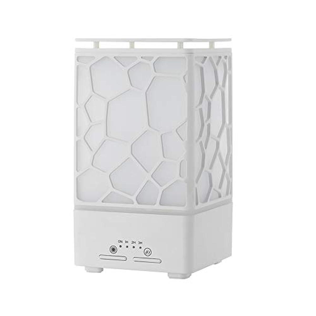 上下する電圧ニッケルデスク ミニ ウォーターキューブ 加湿器,涼しい霧 精油 ディフューザー 超音波式 香り 加湿機 時間 7 色 ホーム Yoga スパ オフィス- 200ml