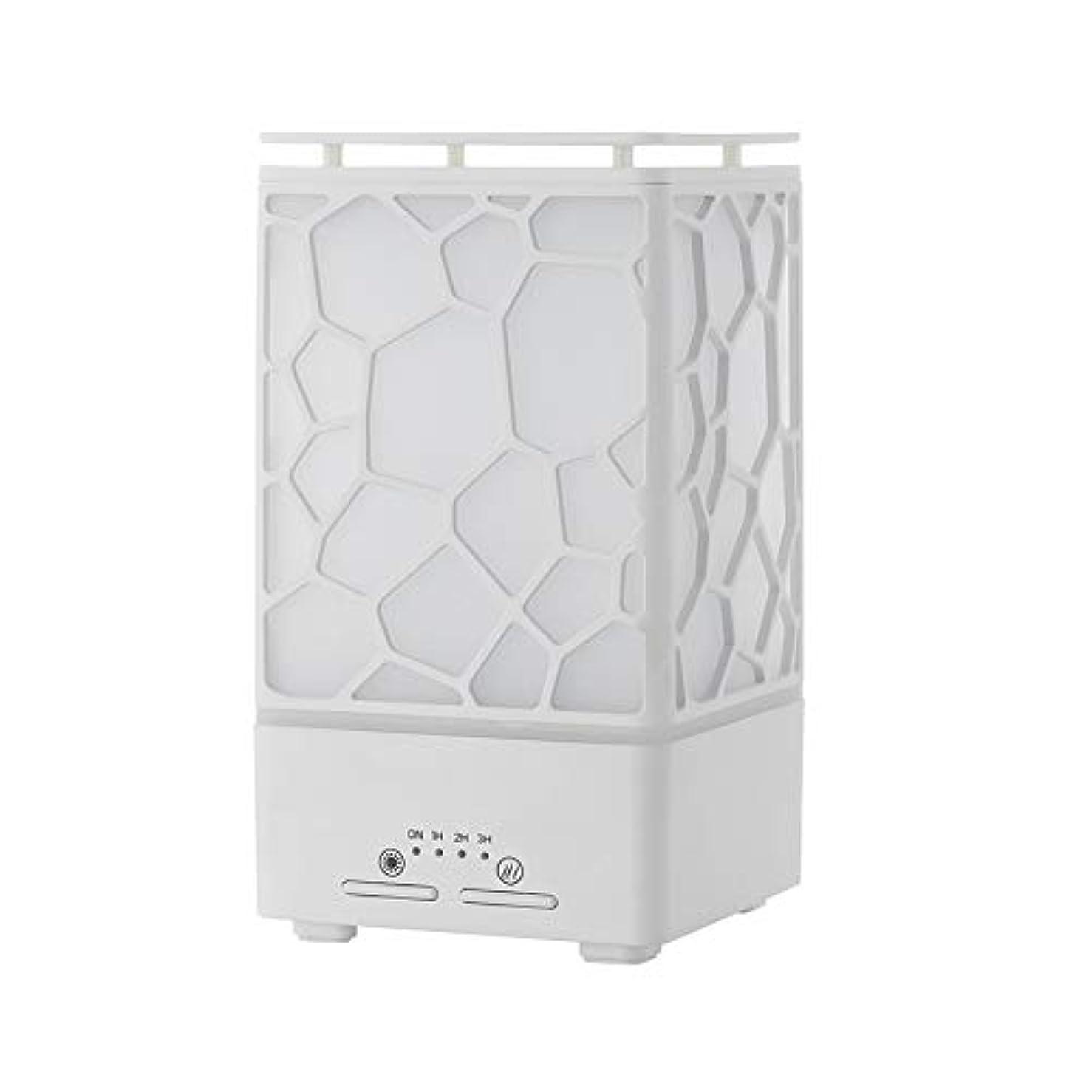 干渉合体四分円デスク ミニ ウォーターキューブ 加湿器,涼しい霧 精油 ディフューザー 超音波式 香り 加湿機 時間 7 色 ホーム Yoga スパ オフィス- 200ml