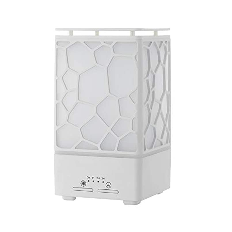 デスク ミニ ウォーターキューブ 加湿器,涼しい霧 精油 ディフューザー 超音波式 香り 加湿機 時間 7 色 ホーム Yoga スパ オフィス- 200ml