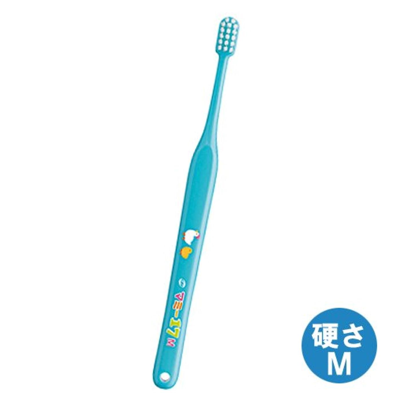 ケーキ鋸歯状力学マミー17歯ブラシ 1本 ミディアム(M)ブルー