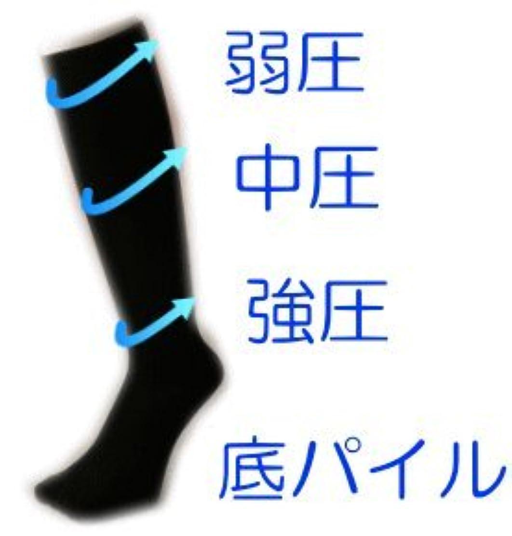 グラム核理想的には男性用 着圧 ソックス ブラック 24-26㎝ 足底 パイル 疲れにくい 太陽ニット 781