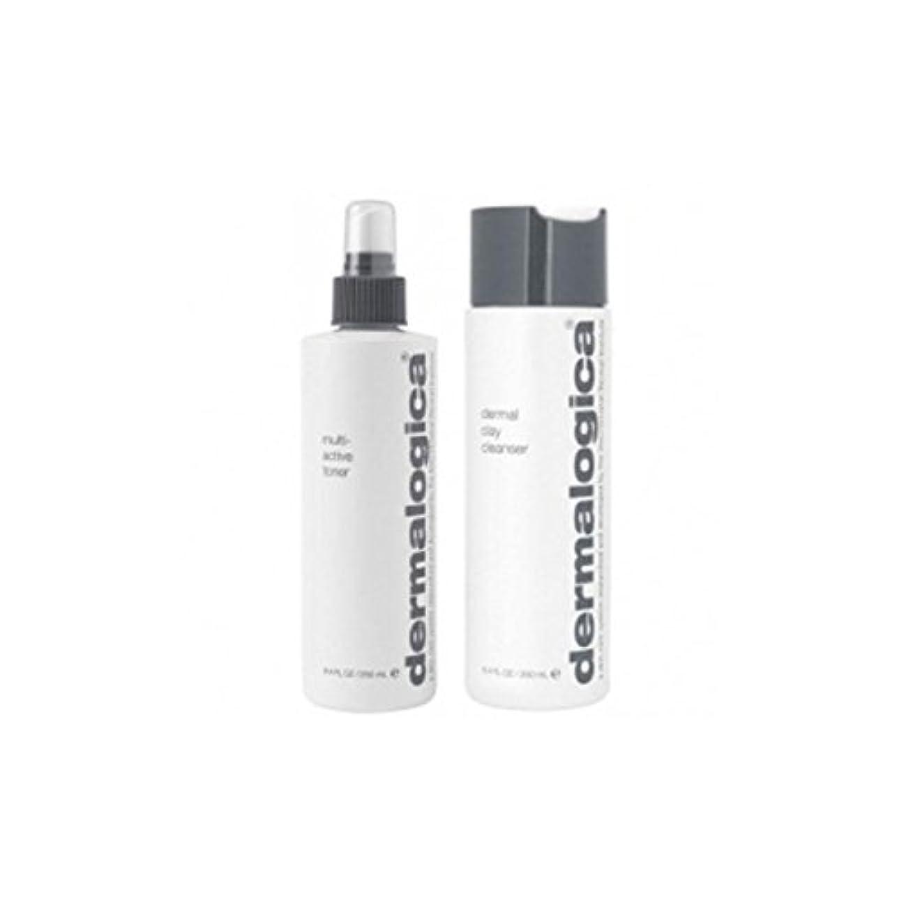 忘れっぽい染色遊具ダーマロジカクレンジング&トーンデュオ - 脂性肌(2製品) x4 - Dermalogica Cleanse & Tone Duo - Oily Skin (2 Products) (Pack of 4) [並行輸入品]