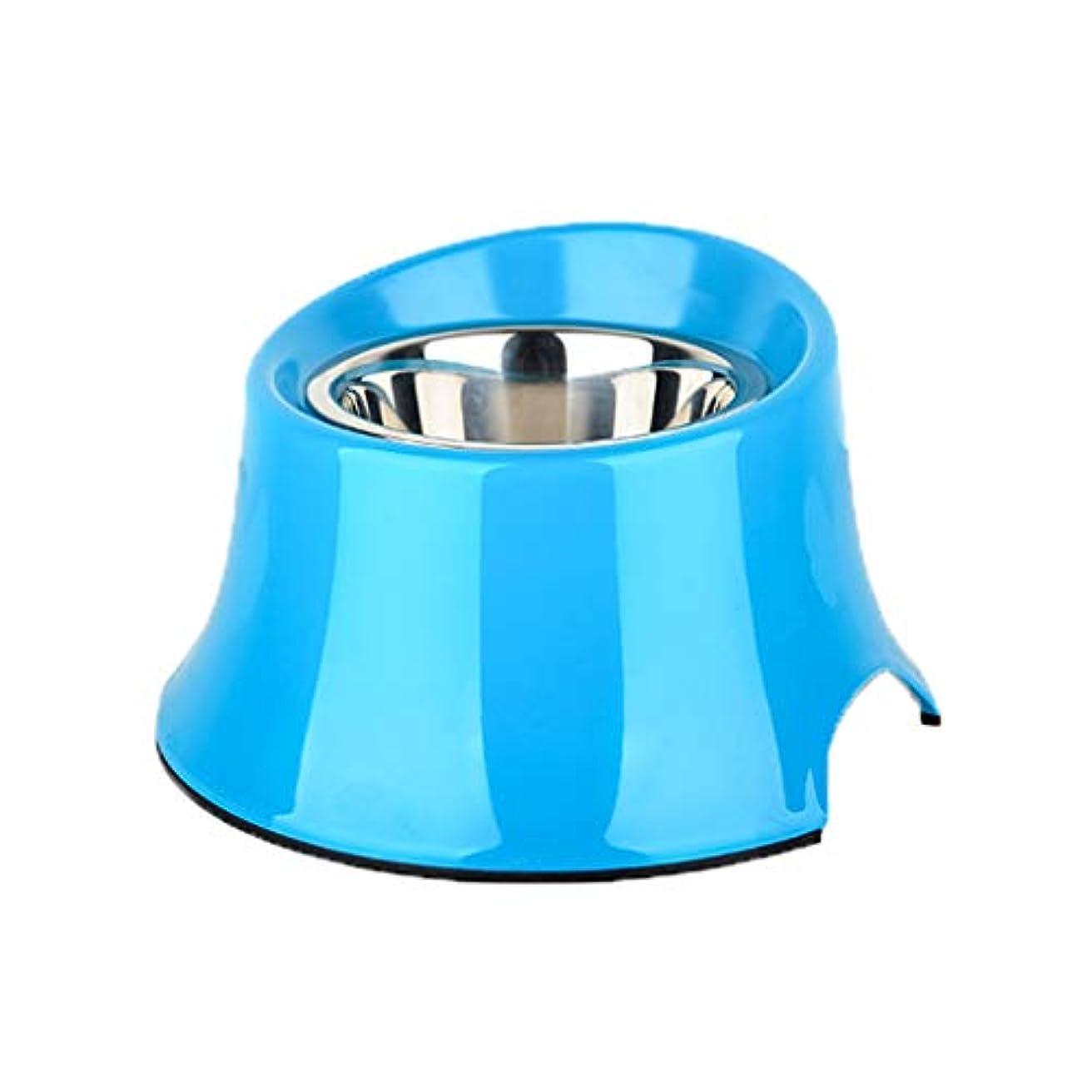 ペットボウル - しずく、こぼれ防止、滑り止め - 水、犬、子犬、猫、そして小型または大型の犬に最適の食品 (色 : 青, サイズ さいず : S s)