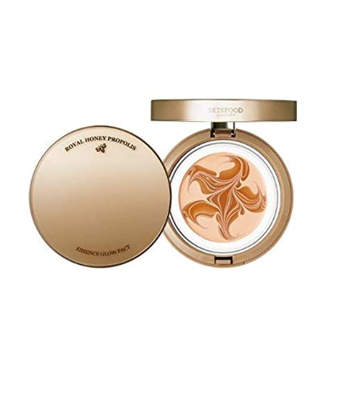 実際に暗くする伝統的Skinfood ロイヤルハニープロポリスグローエッセンスパクト#No.23サンドベージュ / Royal honey ProPolis Glow Essence Pact #No. 21 Natural Beige 15.5g...