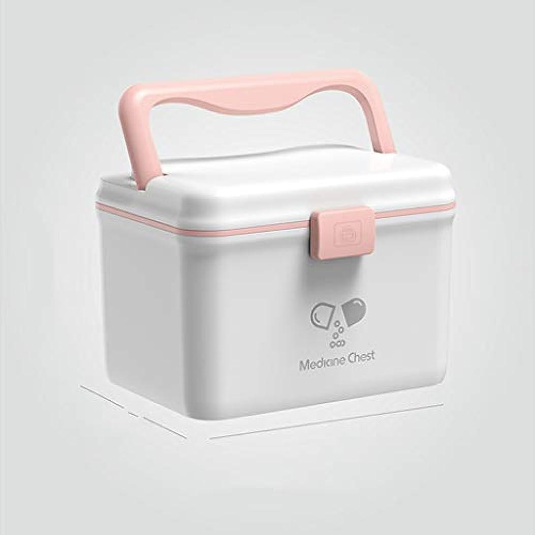 バイソンクラウドバーターYANGBM 薬箱、携帯用医療収納箱、家庭用収納セット、健康医学ジュエリー処方キャビネット (Color : White)
