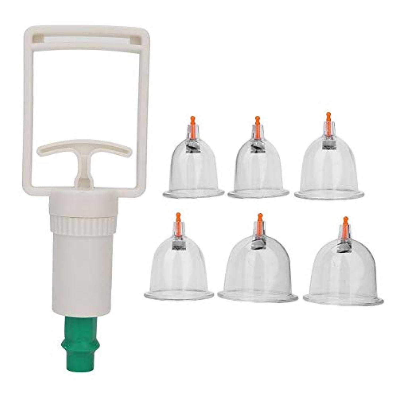 同封するパスポートレバーカッピングセット、6個入りカップカッピングカップセット真空カッピングセラピーマッサージヘルスケア家庭用ギフト