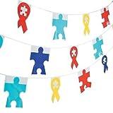 100足Autism Awarenessペナントバナー