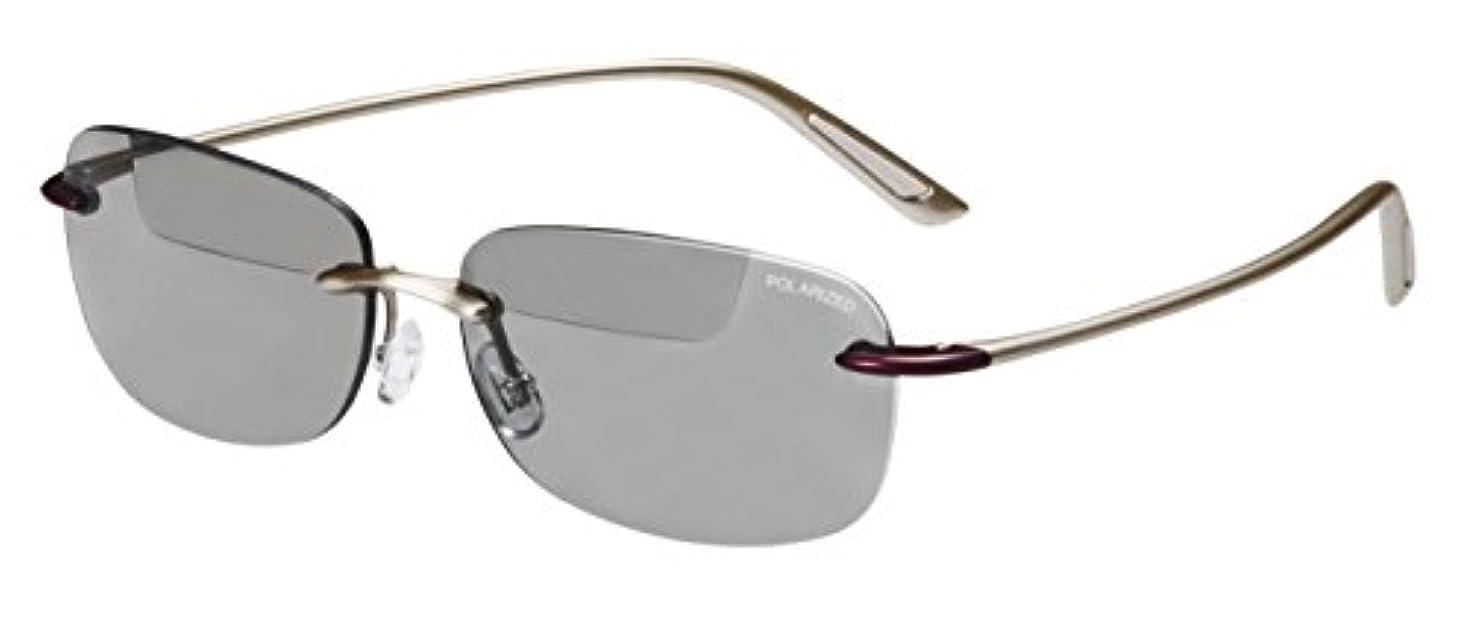 モットーテニス縫うOHKEI OPTICAL(オーケー光学) トップビュー バイフォーカルグラス シルキーゴールド/偏光ライトグレー +3.00 TP-20
