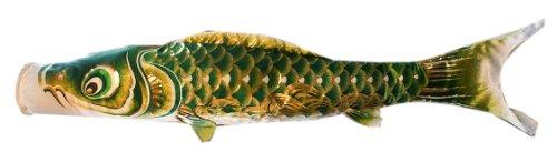最高級鯉のぼり 響 単品 緑 0.8m 口金具付 ジャガードポリエステル使用 金箔ぼかし撥水加工