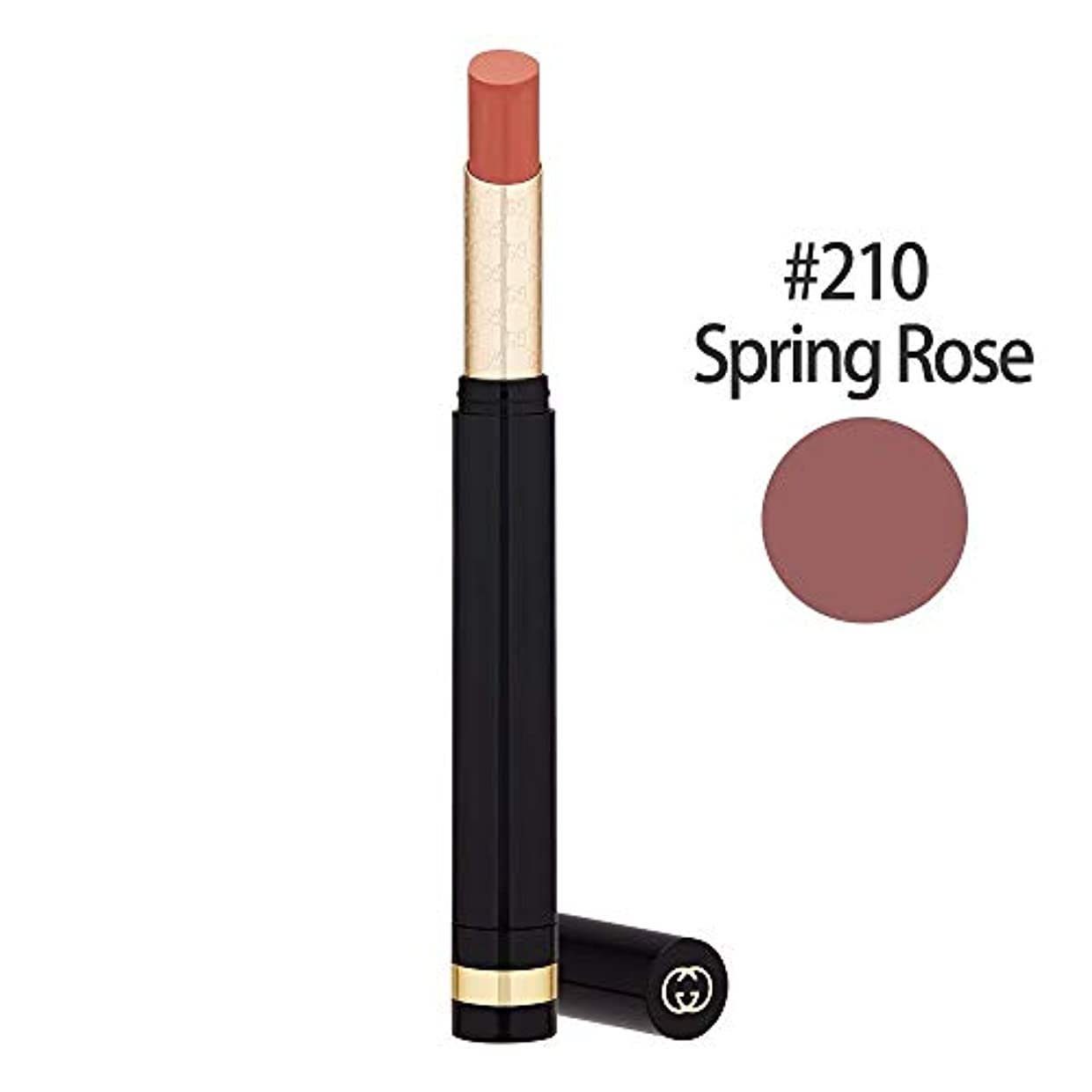 落胆するファランクス反逆者グッチ(GUCCI) センシュアスディープマット リップスティック #210(Spring Rose) 1.5g [並行輸入品]