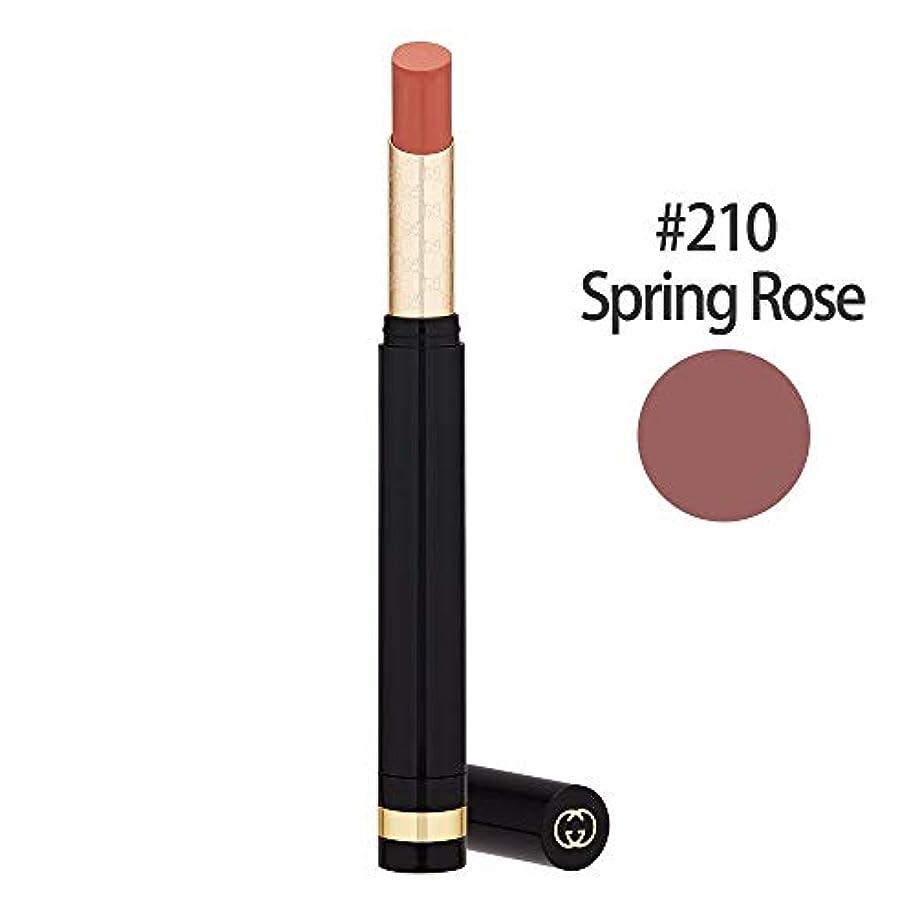 パーツ傾向がありますおとなしいグッチ(GUCCI) センシュアスディープマット リップスティック #210(Spring Rose) 1.5g [並行輸入品]
