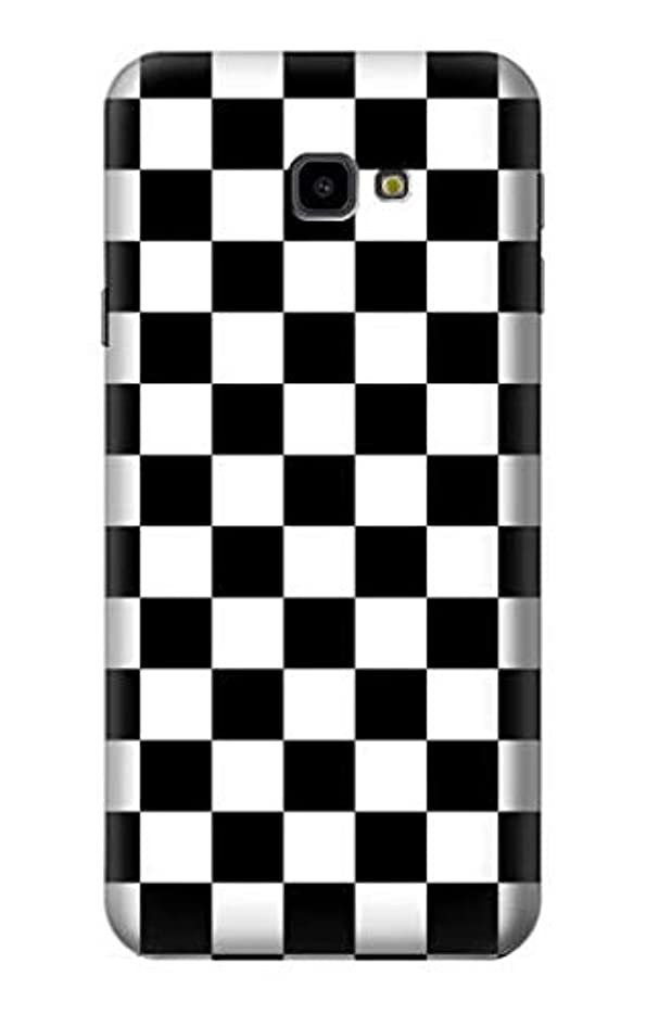 JP1611J4P チェッカーボード Checkerboard Chess Board Samsung Galaxy J4+ (2018), J4 Plus (2018) ケース