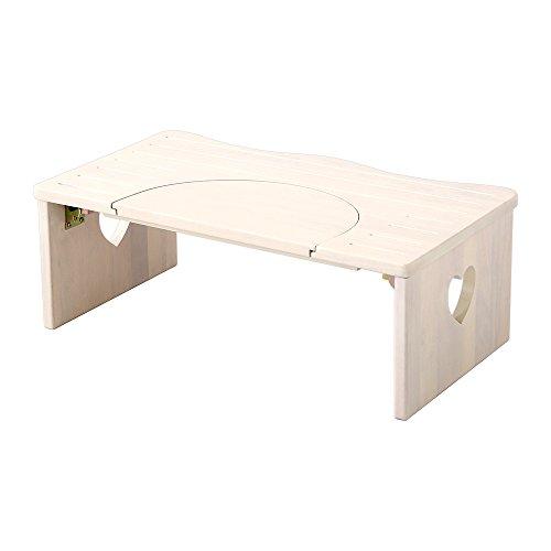RoomClip商品情報 - 子供 踏み台 トイレや洗面所に 36.5cm 木製 ハート柄 折りたたみでコンパクトに 子ども 折り畳み ステップ サリタ ホワイトウォッシュ