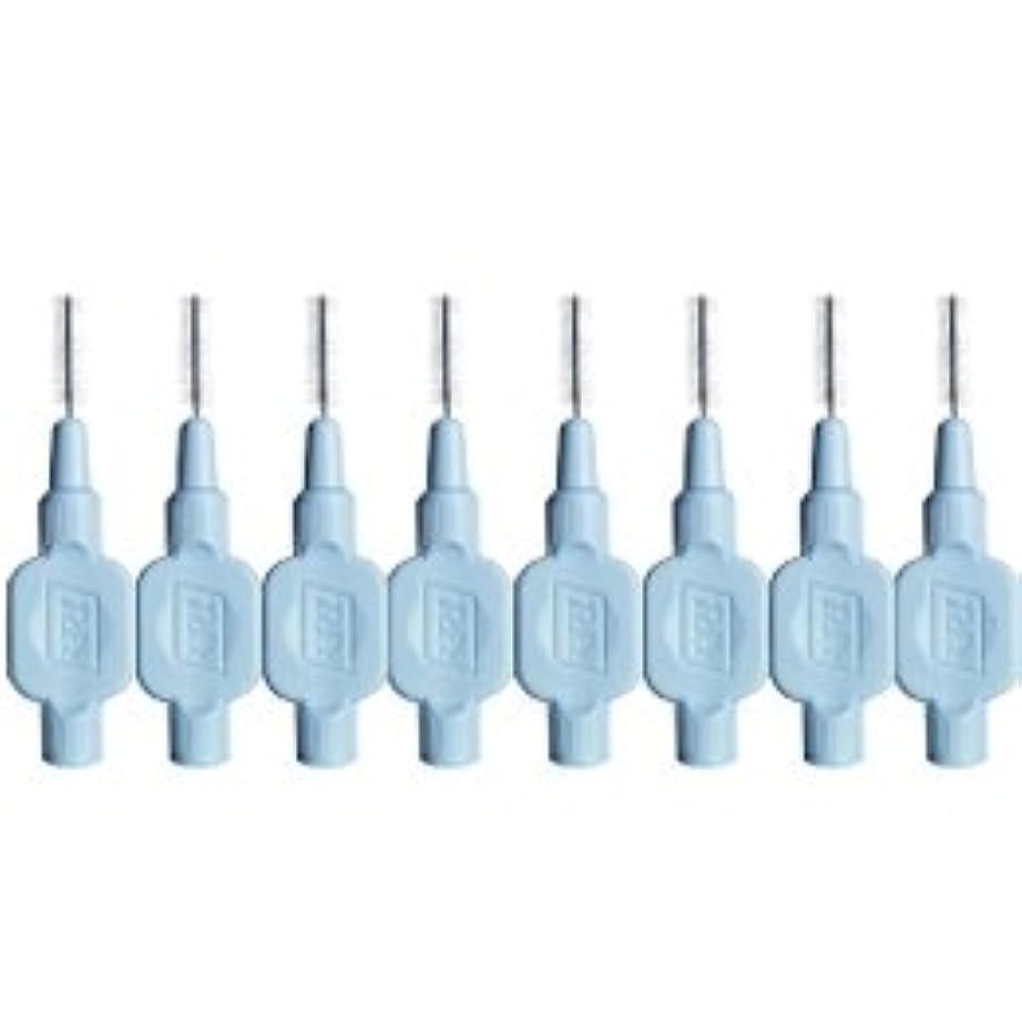 熱心な空白中間テペ エクストラソフト 歯間ブラシ 8本入 ブルー 0.6mm