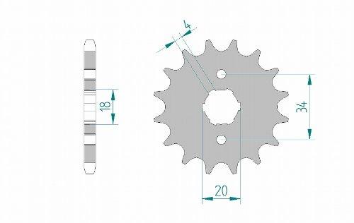 AFAM(アファム) フロントスプロケット 20200-15