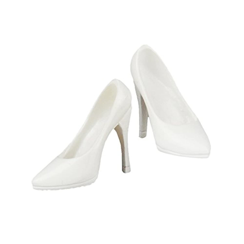 【ノーブランド 品】1/6スケール シューズ ハイヒール 靴 12 インチフィギュアに アクションフィギュア靴 ホワイト