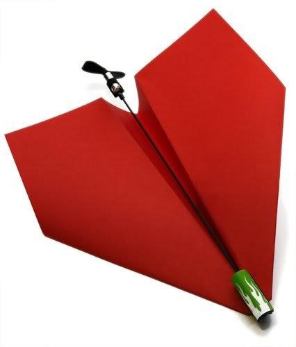 紙ひこうき電動プロペラキット 「 ダ・ヴィンチ」 よく飛ぶ紙飛行機 ペーパーグライダー モーターパワーアップキット